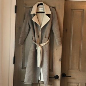 Grey and cream wool coat!